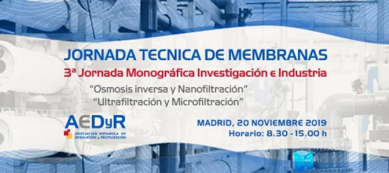 Actualización de fechas. 3ª Jornada Monográfica Investigación e Industria – Tecnología de Membranas