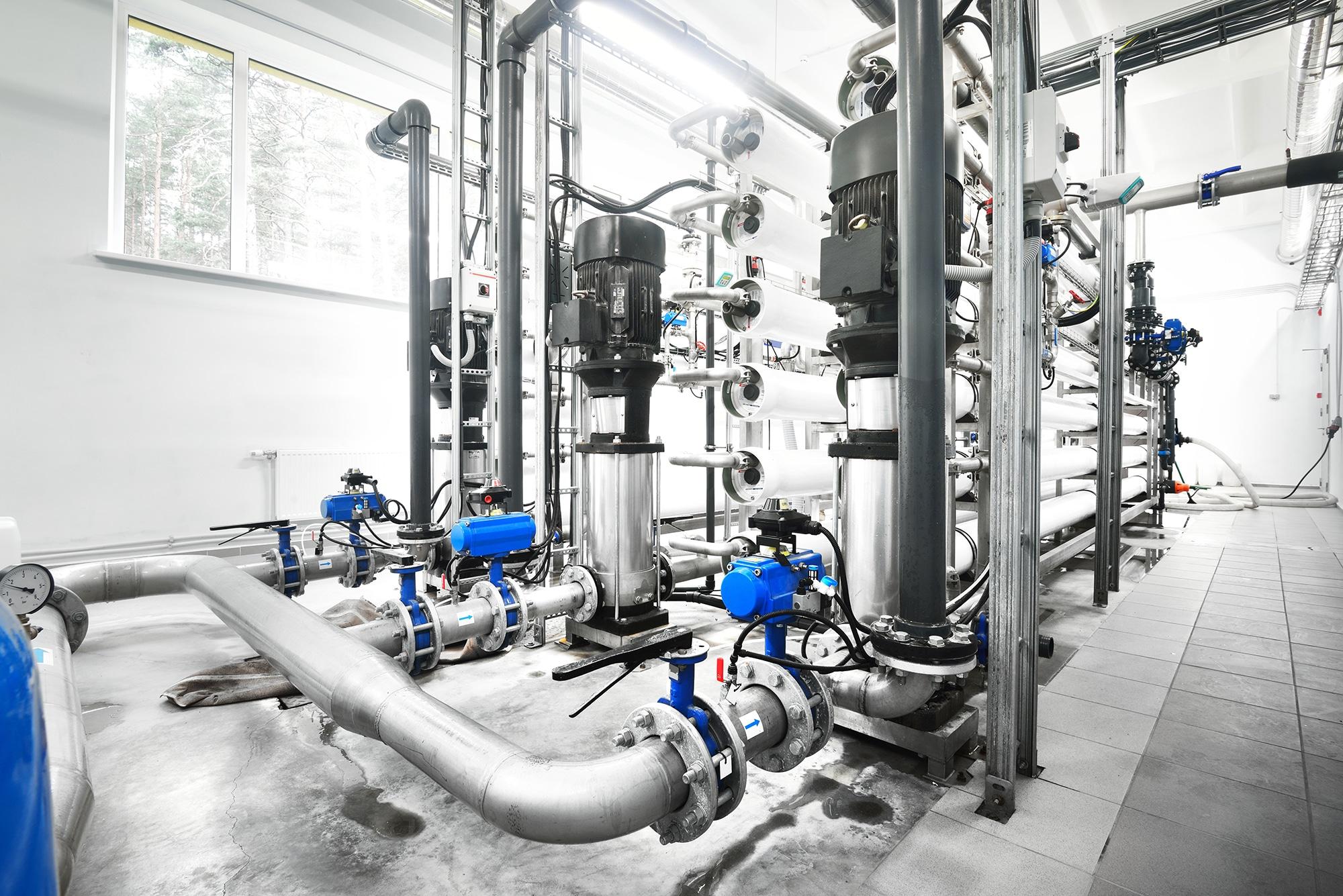 planta de uso industrial de osmosis inversa